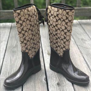 "COACH ""Tristee"" Rain Boots"